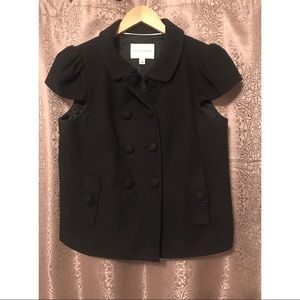 Banana Republic Black Short Sleeve Blazer Size 12